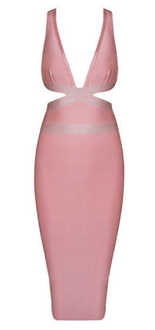Vida Cutout V-Neckline Bandage Dress