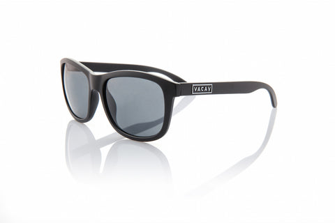 Vacay Classic Sunglass in Matte Black Frames with Grey Lenses