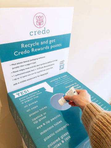 Recycle beauty packaging with Pact at Credo