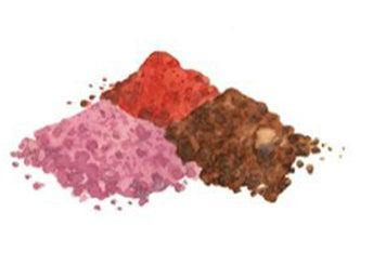 mineral powder pigments pile natural ingredients axiology