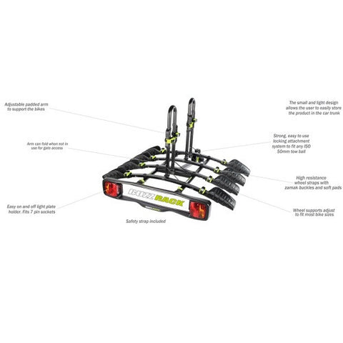 BUZZRACK BuzzyBee 4 Tow Ball – Platform Bike Carrier