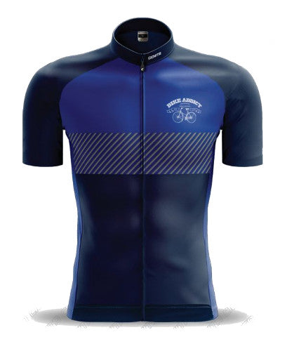 BIKE ADDICT Ciovita Race Cut Black/Blue Jersey (2018)