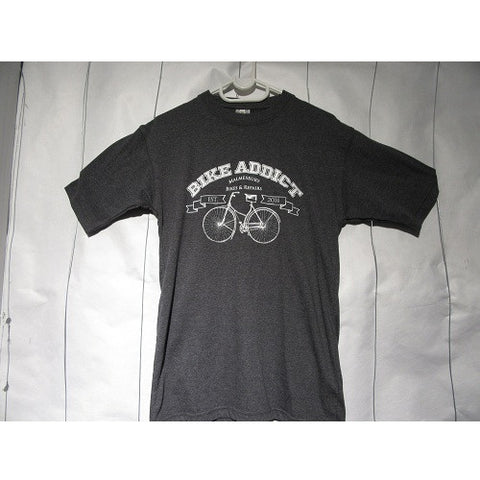 BIKE ADDICT Casual Wear-Grey Addicted T-shirts