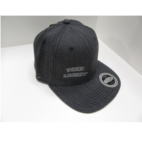 BIKE ADDICT Casual wear-Grey Flat Cap Logo (One Size Fits all adult)
