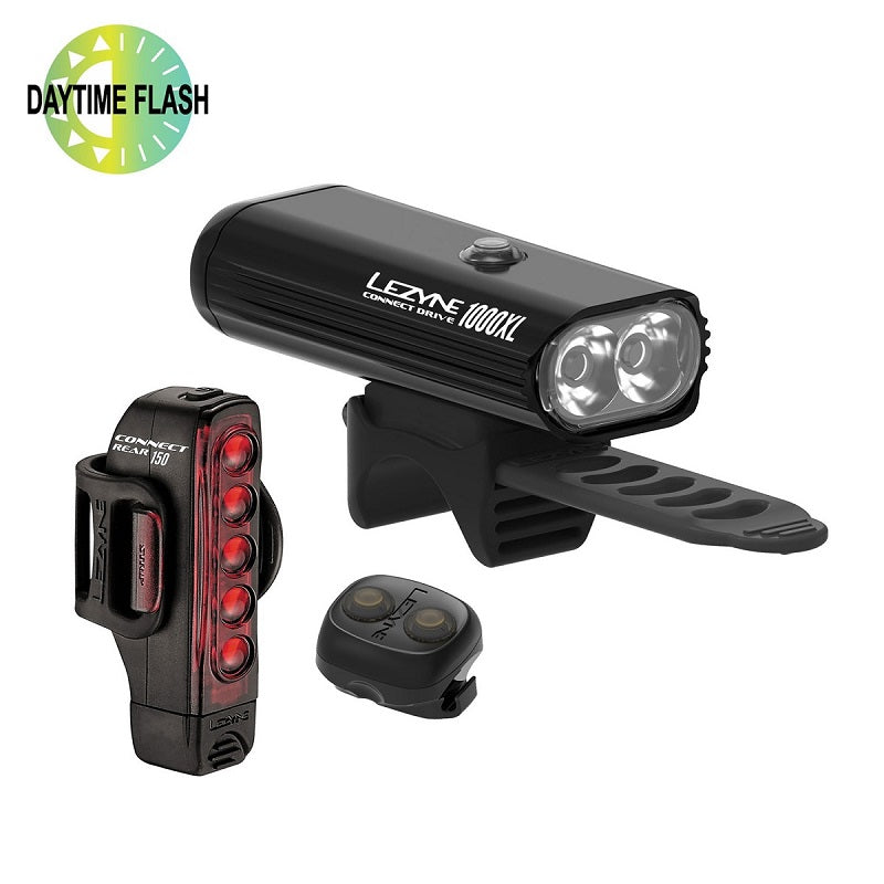 LEZYNE Connect Pro 1000 XL / Strip Drive Light Set