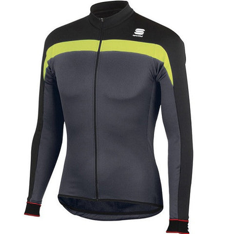 SPORTFUL Pista Thermal jersey  Black/Grey/Green