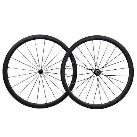 SRT CARBON C38TC Carbon Clincher Wheelset
