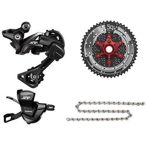 SHIMANO XT Upgrade Kit with Sunrace 11-50T Cassette