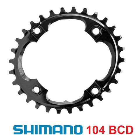 ABSOLUTE BLACK Shimano 104/64 BCD Oval Chainring