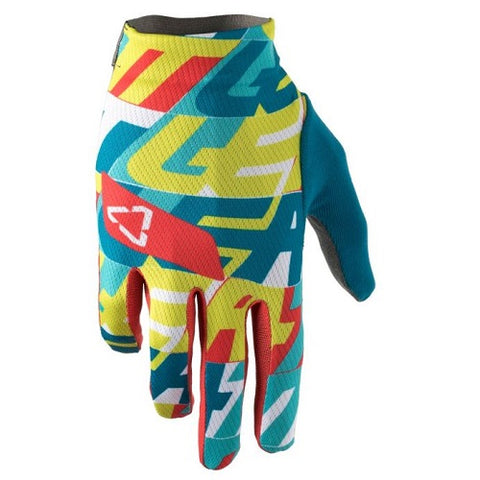 LEATT DBX 1.0 Gripr NewsPrint Gloves