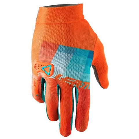 LEATT DBX 2.0 X-Flow Gloves (2018) - Orange/teal