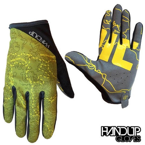 HANDUP Epic Trail Olive Green/Yellow Gloves