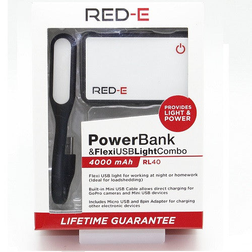 RED-E Power and flexi usb light Combo
