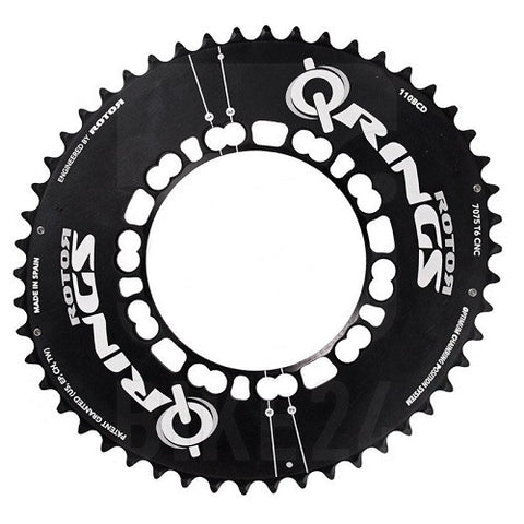 ROTOR Road Aero Q Chainring 110 BCD Outer (Shimano Assymetric BCD)