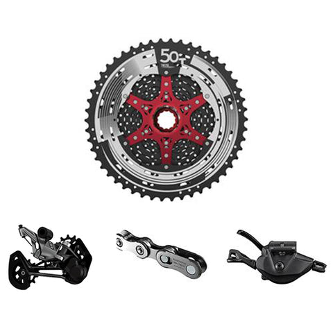 SHIMANO XTR 12-Speed Upgrade Kit with Sunrace Cassette