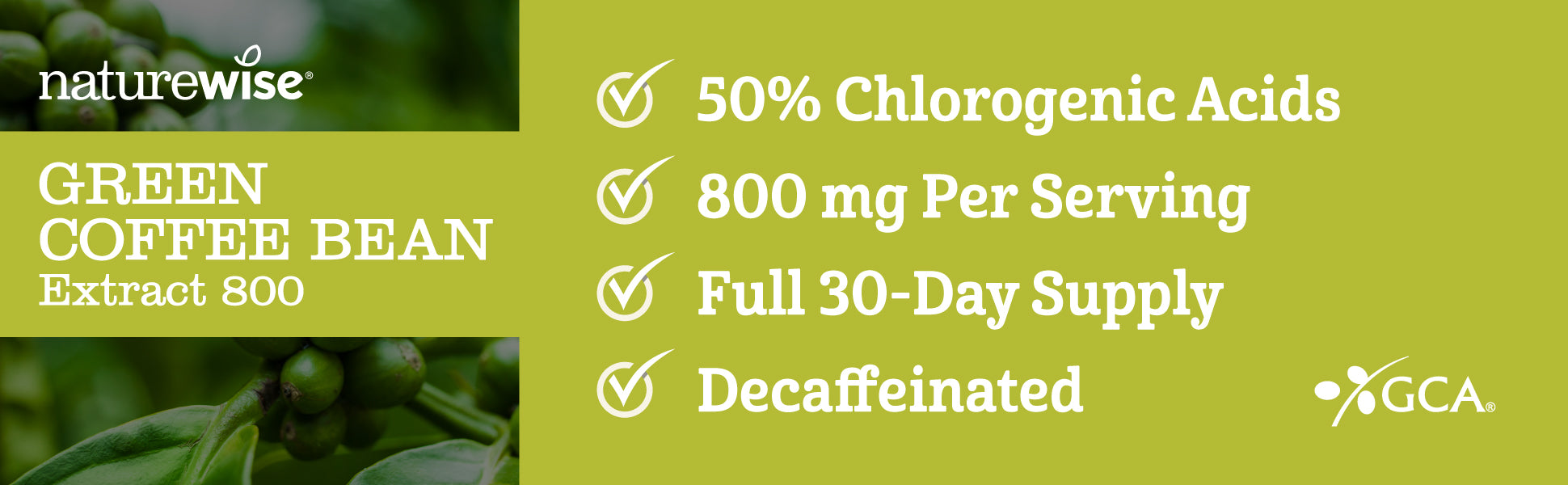 50 percent chlorogenic acids