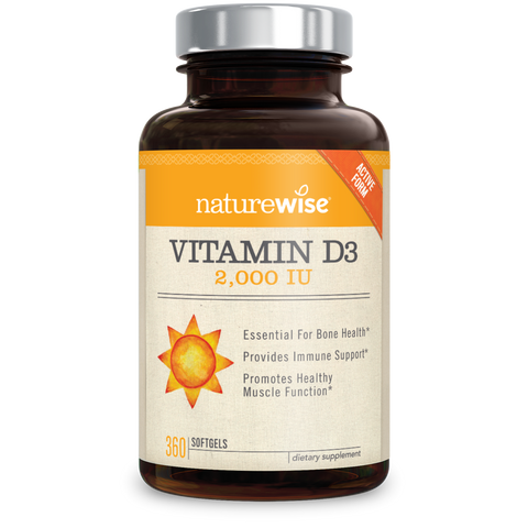 Vitamin D3 2000 IU bottle