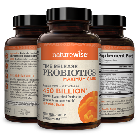 Max Care Probiotics 3-Pack With WiseBiotics