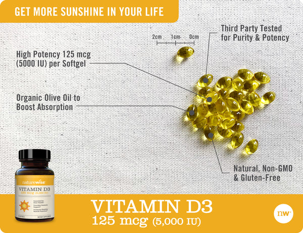 Vitamin K2 with VitaMK7® + Vitamin D3 5,000 IU's Bundle