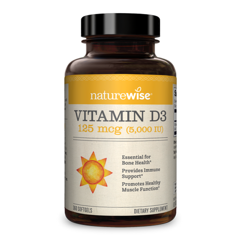 Vitamin D3 5,000 IU - 125mcg, 360 Softgels