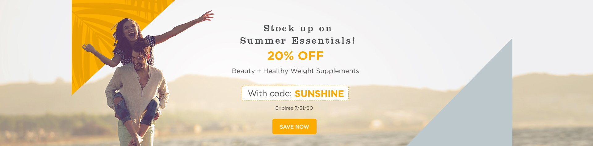 20% OFF Beauty & Healthy Weight Supplements