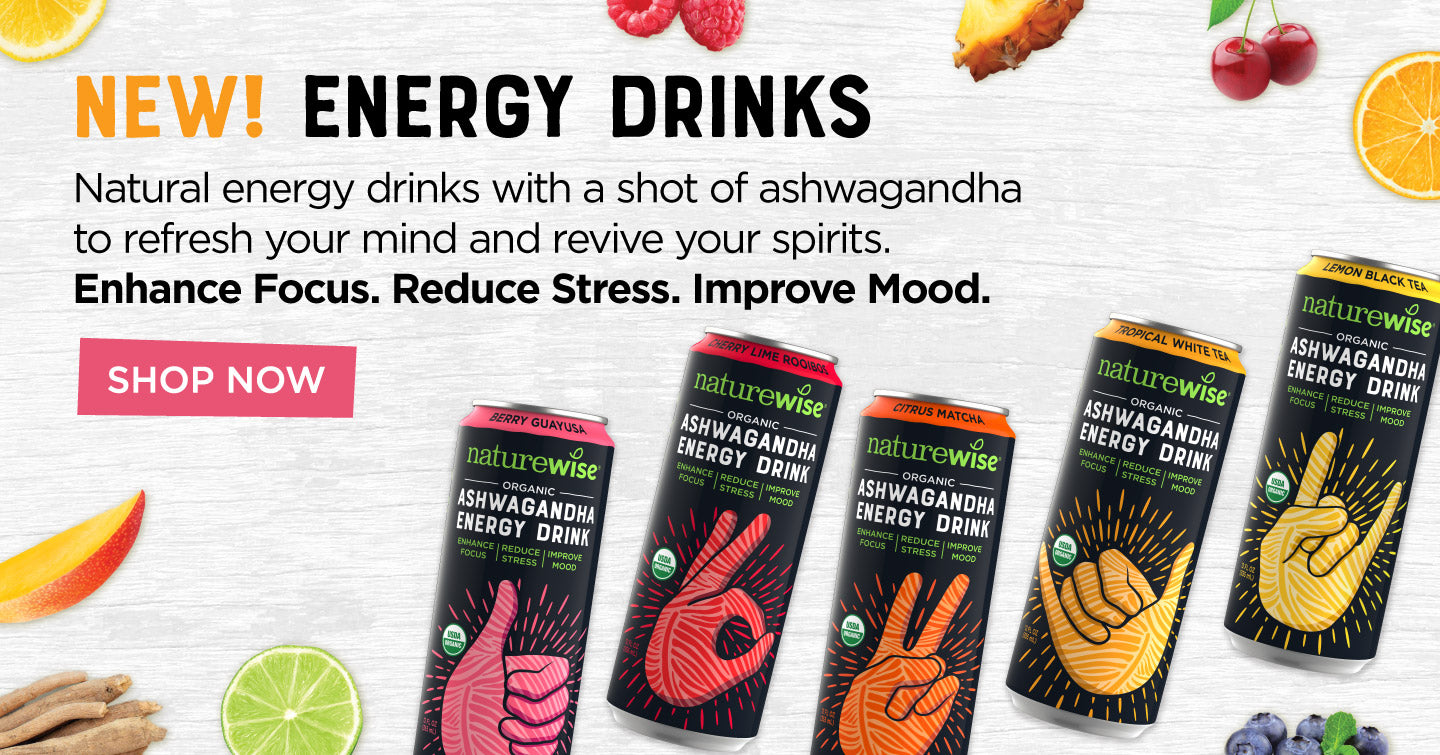 Natural energy drinks with a shot of ashwagandha to refresh the mind and revive the spirits. Enhance Focus. Reduce Stress. Improve Mood.