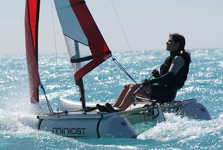 MiniCat 310 Inflatable Catamaran Sailing