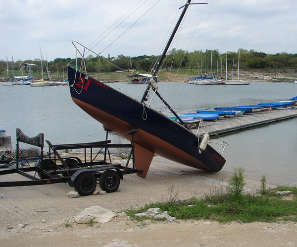 Sailboat trailer fail