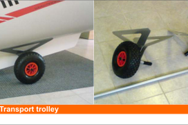 Transport Trolley Wheels for MiniCat 420