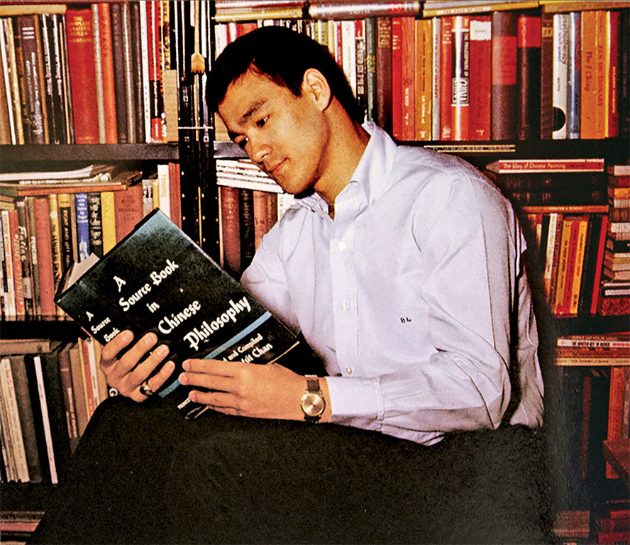 Bruce Lee Reading Philosophy Book