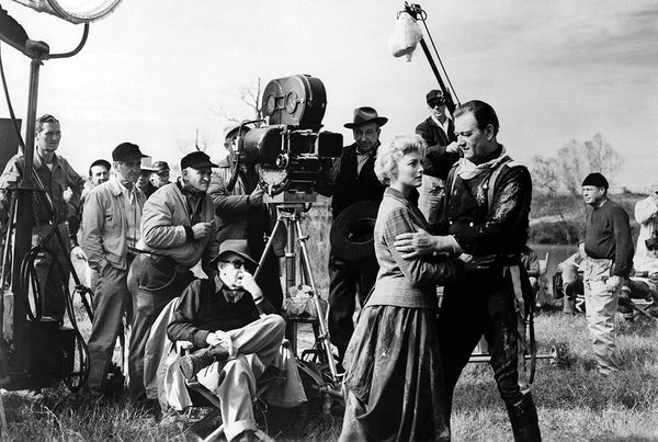 John Wayne On Set The Horse Soldiers