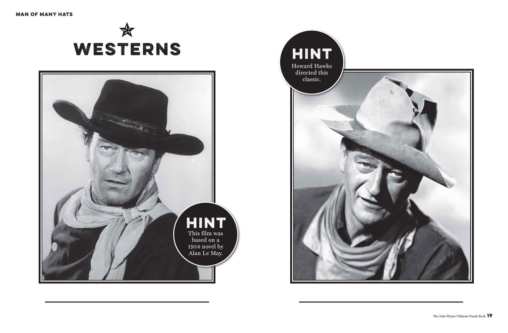 John Wayne Ultimate Puzzle Book, Vol. 3 Man of Many Hats Trivia