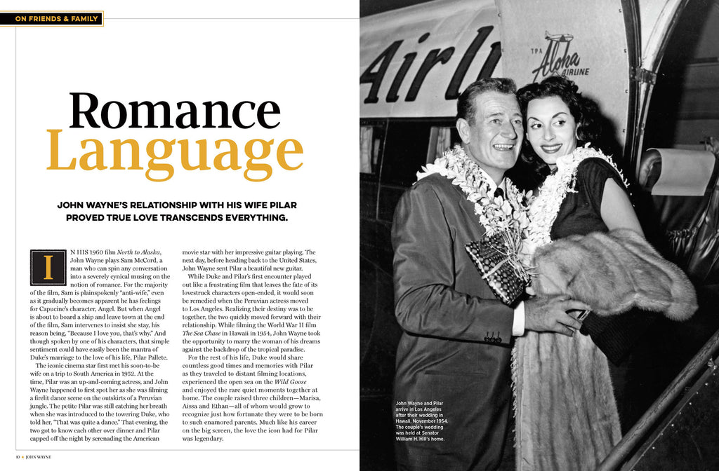 Romance Language Article from John Wayne Volume 32