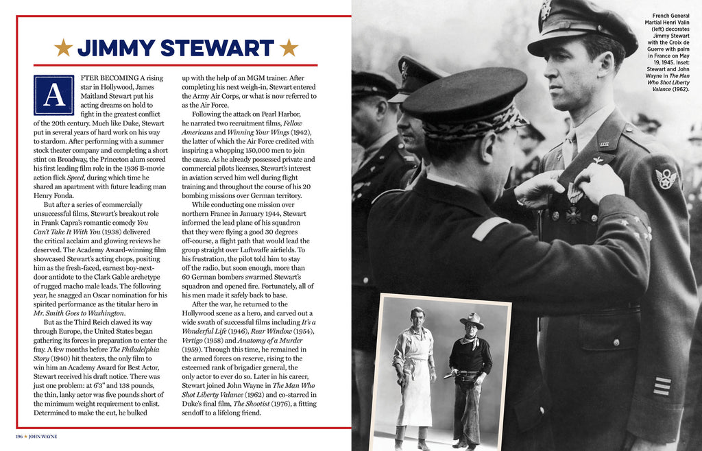 Jimmy Stewart entry in John Wayne's Book of American Grit