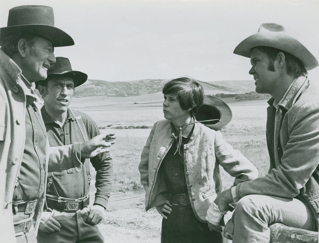 John Wayne True Grit scene with costars