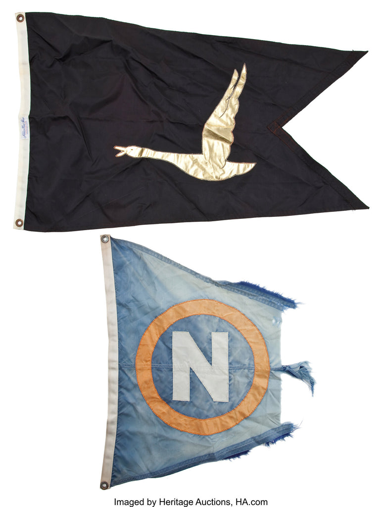 Flags from John Wayne's boat the Wild Goose