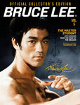 Bruce Lee Official Collector's Edition Magazine Cover Volume 5 on gray background