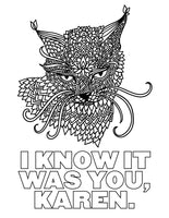 Cat Farts Coloring Book I Know It Was You Karen Page
