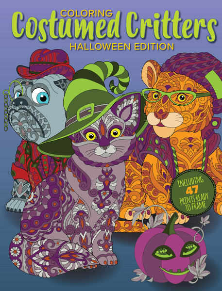Coloring Costumed Critters: Halloween Edition