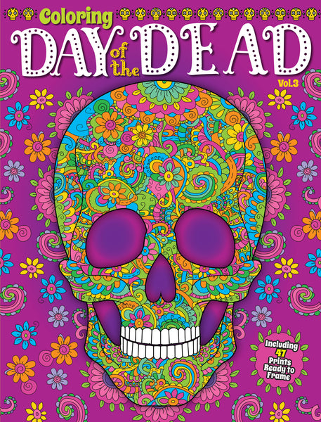 Coloring: Day of the Dead, Vol. 3
