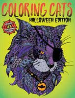 Coloring Cats: Halloween Edition Cover
