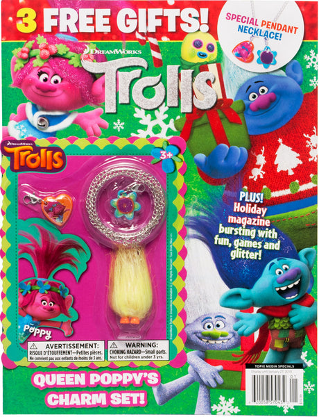 DreamWorks Trolls Holiday Magazine with 3 Free Gifts