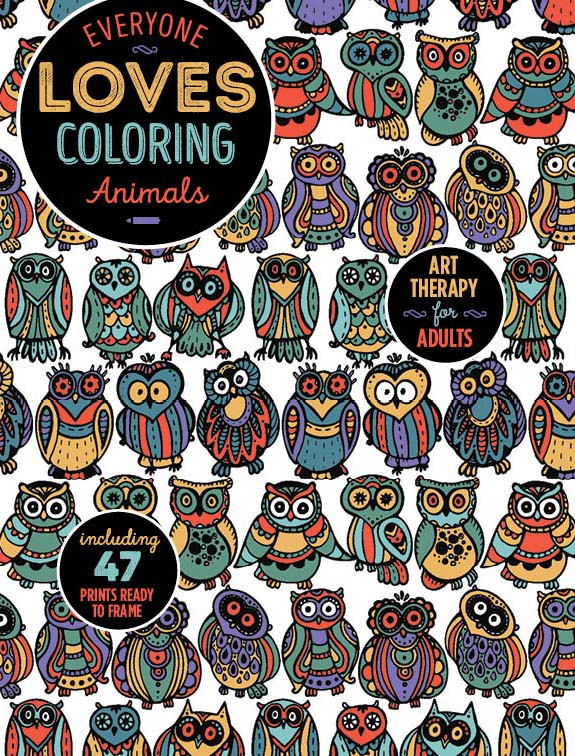 everyone loves coloring animals vol 2 media lab publishing