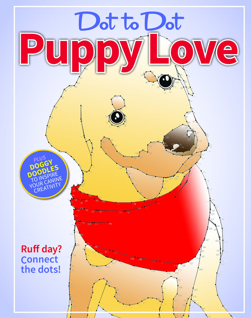 Dot-to-Dot Coloring: Puppy Love