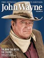 John Wayne Collector's Edition cover featuring actor in stetson hat on blue background with bandana around neck