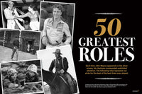 John Wayne's 50 Greatest Roles Intro Spread