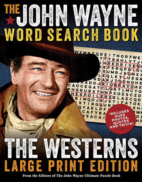 John Wayne Word Search Book Large Pring