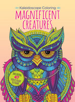 Coloring Magnificent Creatures Owl Digest Cover