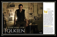 Inside magazine spread of Newsweek Special Edition featuring movie still from 2019 biopic Tolkien