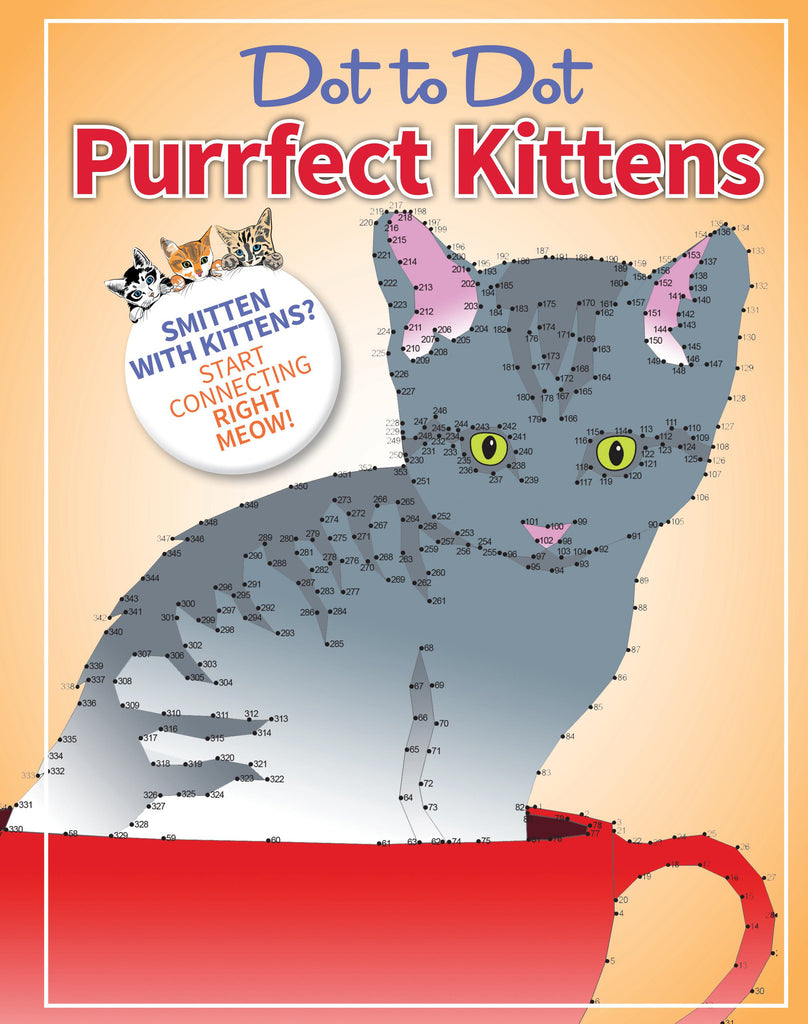 Dot-to-Dot Coloring: Purrfect Kittens